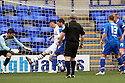 Jake Cassidy of Tranmere scores their first goal. - Tranmere Rovers v Stevenage - npower League 1 - Prenton Park, Tranmere - 6th April, 2012 . © Kevin Coleman 2012