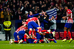 Diego Roberto Godin Leal of Atletico de Madrid celebrates   with teammates scoring the goal during the La Liga 2018-19 match between Atletico de Madrid and Athletic de Bilbao at Wanda Metropolitano, on November 10 2018 in Madrid, Spain. Photo by Diego Gouto / Power Sport Images