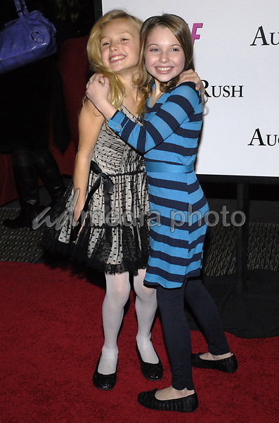 "11 November 2007 - New York, New York - Peyton List and Sammi Hanratty. The New York premiere of Warne Bros. Pictures' ""August Rush"" held at  the Ziegfeld Theater.  Photo Credit: Bill Lyons/AdMedia *** Local Caption ***"