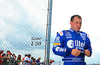 Apr 26, 2008; Talladega, AL, USA; NASCAR Sprint Cup Series driver Ryan Newman during qualifying for the Aarons 499 at Talladega Superspeedway. Mandatory Credit: Mark J. Rebilas-