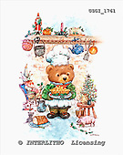 GIORDANO, CHRISTMAS ANIMALS, WEIHNACHTEN TIERE, NAVIDAD ANIMALES, Teddies, paintings+++++,USGI1761,#XA#
