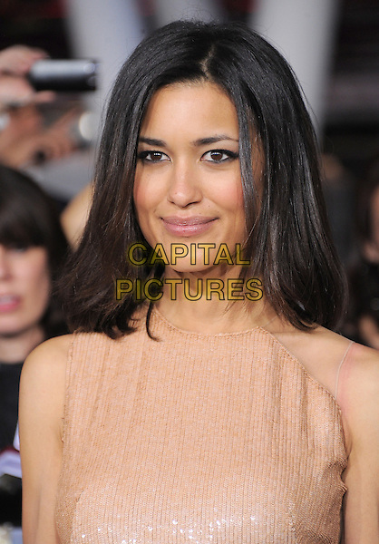 "Julia Jones.""The Twilight Saga: Breaking Dawn - Part 2"" Los Angeles Premiere held at Nokia Theatre L.A. Live, Los Angeles, California, USA..November 12th, 2012 .headshot portrait pink beige nude sleeveless sequins sequined  .CAP/DVS.©DVS/Capital Pictures."
