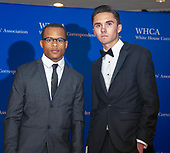 Scion Kelly, left, and Parkland shooting survivor and activist David Hogg, right, arrive for the 2018 White House Correspondents Association Annual Dinner at the Washington Hilton Hotel on Saturday, April 28, 2018.<br /> Credit: Ron Sachs / CNP<br /> <br /> (RESTRICTION: NO New York or New Jersey Newspapers or newspapers within a 75 mile radius of New York City)