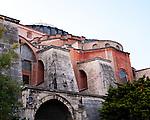 Hagia Sophia Buttresses - Hagia Sophia (Aya Sofya) basilica, Sultanahmet, Istanbul, Turkey