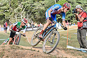 9th September 2017, Smithfield Forest, Cairns, Australia; UCI Mountain Bike World Championships; Jaroslav Kulhavy (CZE) riding for Specialized Racing leads Nino Schurter (SUI) riding for Scott-Sram MTB Racing Team in the final lap during the elite mens cross country race;