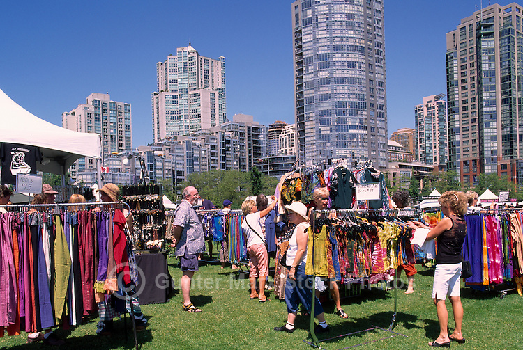 Clothing from Indonesia for Sale at Vendor Bazaar and Market in David Lam Park, Yaletown, Vancouver, BC, British Columbia, Canada