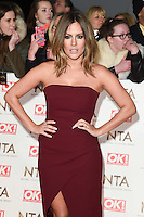 Caroline Flack at the National TV Awards 2017 held at the O2 Arena, Greenwich, London. <br /> 25th January  2017<br /> Picture: Steve Vas/Featureflash/SilverHub 0208 004 5359 sales@silverhubmedia.com