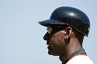 12 April 2008: First base coach Roberto Kelly of the Giants is seen during the St. Louis Cardinals 8-7 victory over the San Francisco Giants at the AT&T Park in San Francisco, CA.