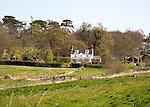 Detached house, River Deben valley and floodplain, Sutton, Suffolk, England, UK