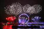 London New Year Fireworks Display at the  London Eye 2019, United Kingdom - 01 Jan 2019 photo by <br /> Roger Alarcon