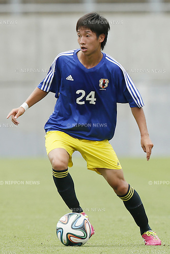 Masaya Okugawa,<br /> JULY 1, 2014 - Football / Soccer : <br /> Training match between U-19 Japan 1-2 Omiya Ardija<br /> at NACK5 Stadium Omiya, Saitama, Japan. <br /> (Photo by SHINGO ITO/AFLO SPORT)