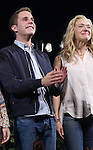 Ben Platt and Rachel Bay Jones during the Broadway Opening Night Performance Curtain Call for 'Dear Evan Hansen'  at The Music Box Theatre on December 3, 2016 in New York City.