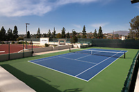 View of center court at the McKinnon Family Tennis Center at Kemp Stadium, Nov. 26, 2019.<br /> (Photo by Marc Campos, Occidental College Photographer)