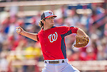 9 March 2013: Washington Nationals pitcher Erik Davis on the mound during a Spring Training game against the Miami Marlins at Space Coast Stadium in Viera, Florida. The Nationals edged out the Marlins 8-7 in Grapefruit League play. Mandatory Credit: Ed Wolfstein Photo *** RAW (NEF) Image File Available ***