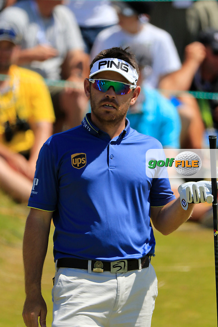 Louis Oosthuizen (RSA) on the 1st tee to start his match during Sunday's Final Round of the 2015 U.S. Open 115th National Championship held at Chambers Bay, Seattle, Washington, USA. 6/21/2015.<br /> Picture: Golffile | Eoin Clarke<br /> <br /> <br /> <br /> <br /> All photo usage must carry mandatory copyright credit (&copy; Golffile | Eoin Clarke)