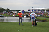 Julian Suri (USA) on the 18th during Round 4 of the HNA Open De France at Le Golf National in Saint-Quentin-En-Yvelines, Paris, France on Sunday 1st July 2018.<br /> Picture:  Thos Caffrey | Golffile