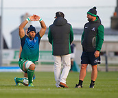 9th September 2017, Galway Sportsground, Galway, Ireland; Guinness Pro14 Rugby, Connacht versus Southern Kings; Connacht captain John Muldoon stretches during the warm up