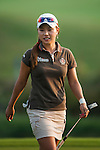 TAOYUAN, TAIWAN - OCTOBER 26:  Hee Young Park of South Korea smiles on the 18th hole during the day two of the Sunrise LPGA Taiwan Championship at the Sunrise Golf Course on October 26, 2012 in Taoyuan, Taiwan. Photo by Victor Fraile / The Power of Sport Images