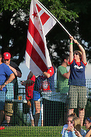 Boyds, MD - Saturday July 09, 2016: Spirit fan prior to a regular season National Women's Soccer League (NWSL) match between the Washington Spirit and the Chicago Red Stars at Maureen Hendricks Field, Maryland SoccerPlex.