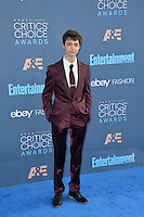 Lucas Jade Zumann at the 22nd Annual Critics' Choice Awards at Barker Hangar, Santa Monica Airport. <br /> December 11, 2016<br /> Picture: Paul Smith/Featureflash/SilverHub 0208 004 5359/ 07711 972644 Editors@silverhubmedia.com