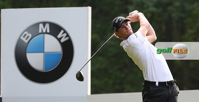 Thomas Pieters (BEL) during Round Two of the 2016 BMW PGA Championship over the West Course at Wentworth, Virginia Water, London. 27/05/2016. Picture: Golffile | David Lloyd. <br /> <br /> All photo usage must display a mandatory copyright credit to &copy; Golffile | David Lloyd.