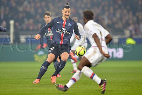 28.02.2016. Lyon, France. French League 1 football. Olympique Lyon versus Paris St Germain.  ZLATAN IBRAHIMOVIC (psg)