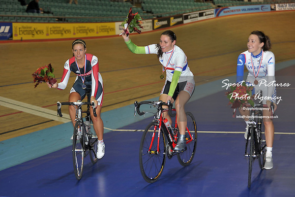 Wednesday Evening Session. British Cycling Senior National Track Championships. Manchester Velodrome. England. 21/10/2009. Credit Sportinpictures/Garry Bowden