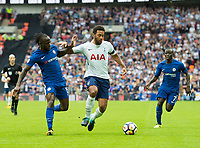Tottenham's Mousa Dembele  and Chelsea's Victor Moses during the Premier League match between Tottenham Hotspur and Chelsea at Wembley Stadium, London, England on 20 August 2017. Photo by Andrew Aleksiejczuk / PRiME Media Images.