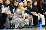 23 March 2014: MSU head coach Suzy Merchant. The Michigan State University Spartans played the Hampton University Lady Pirates in an NCAA Division I Women's Basketball Tournament First Round game at Cameron Indoor Stadium in Durham, North Carolina. Michigan State won the game 91-61.
