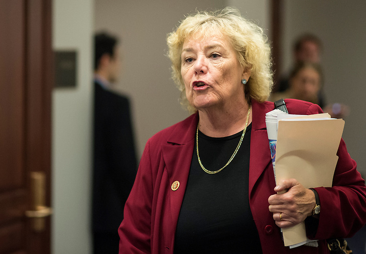 UNITED STATES - JULY 17: Rep. Zoe Lofgren, D-Calif., leaves the House Democrats' caucus meeting in the Capitol Visitor Center on Wednesday, July 17, 2013. (Photo By Bill Clark/CQ Roll Call)