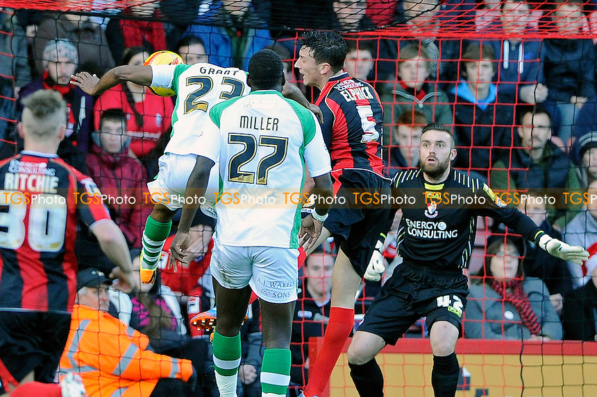 Joel Grant of Yeovil Town gores close in the first half - AFC Bournemouth vs Yeovil Town - Sky Bet Championship Football at the Goldsands Stadium, Bournemouth, Dorset - 26/12/13 - MANDATORY CREDIT: Denis Murphy/TGSPHOTO - Self billing applies where appropriate - 0845 094 6026 - contact@tgsphoto.co.uk - NO UNPAID USE