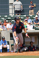First baseman Zak Farkes of the Salem Red Sox  hitting against  the Myrtle Beach Pelicans on May 3, 2009
