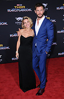 10 October  2017 - Hollywood, California - Elsa Pataky, Chris Hemsworth. World Premiere of &quot;Thor: Ragnarok&quot; held at The El Capitan Theater in Hollywood. <br /> CAP/ADM/BT<br /> &copy;BT/ADM/Capital Pictures