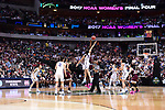 DALLAS, TX - MARCH 31: Gabby Williams #15 of the Connecticut Huskies and Teaira McCowan #15 of the Mississippi State Lady Bulldogs tip off  during the 2017 Women's Final Four at American Airlines Center on March 31, 2017 in Dallas, Texas. (Photo by Justin Tafoya/NCAA Photos via Getty Images)