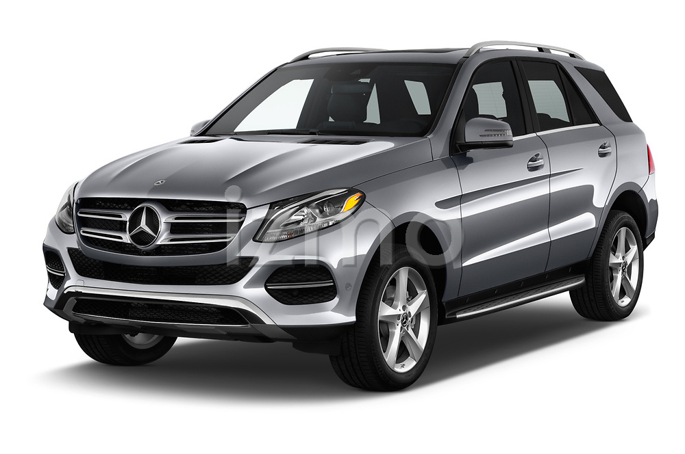 2018 Mercedes Benz GLE-Class GLE350 5 Door SUV angular front stock photos of front three quarter view