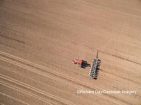 63801-10104 Farmer planting corn-aerial Marion Co. IL