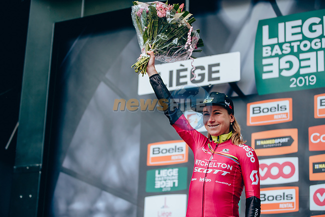 "Annemiek van Vleuten (NED) Mitchelton-Scott Women wins the 2019 Liège-Bastogne-Liège Femmes by 1'39"" and now leads the UCI Womens World Tour, running 138.5km from Bastogne to Liege, Belgium. 28th April 2019<br /> Picture: ASO/Thomas Maheux 