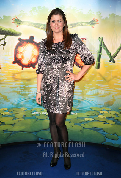 Amanda Lamb arriving for the gala premiere of Cirque Du Soleil's 'Totem' , at the Royal Albert Hall, London. 05/01/2011. Picture by: Alexandra Glen / Featureflash