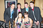 DEBS BALL: Enjoying a great time at the St Patrick's and Community Colleges Debs at the Abbeygate Hotel on Friday l-r: seated Tara Daly and Jennifer Drumm. Back l-r: Denis Lenihan, John Kerins, Liam Lyons and Kane Daly.