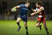 29th September 2017, AJ Bell Stadium, Salford, England; Aviva Premiership Rugby, Sale Sharks versus Gloucester; Sale Sharks' Sam James defends