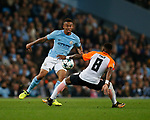 Gabriel Jesus of Manchester City tussles with Fred of Shaktar Donetsk during the Champions League Group F match at the Emirates Stadium, Manchester. Picture date: September 26th 2017. Picture credit should read: Andrew Yates/Sportimage