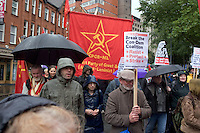 CPGB-ML Banner Right To Work Demo Birmingham Oct 2010