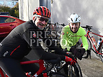 Eamon Lawler and Liam Maxwell who took part in the Louth Costal Cycle Tour hosted by Drogheda Wheelers with all proceeds going to Donore National School. Photo:Colin Bell/pressphotos.ie