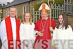 Barrduff NS students Roisin Houston and Juliet O'Shea Rathmore who received their Confirmation from Bishop Bill Murphy and Fr Larry Kelly on Tuesday