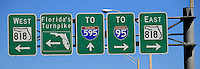 MIAMI.FLORIDA-USA-19-O3-2013. Señales de transito. traffic signals.Photo / VizzorImage / Felipe Caicedo / Staff