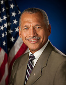 Washington, DC - (FILE) -- Official portrait of Charles F. Bolden, Jr., Administrator, National Aeronautics and Space Administration (NASA) taken in Washington, DC on Wednesday, July 29, 2009.  General Bolden retired from the United States Marine Corps in 2003 as the Commanding General of the Third Marine Aircraft Wing after serving more than 34 years, and is currently CEO of Jack and Panther LLC, a privately-held military and aerospace consulting firm. Gen. Bolden began his service in U.S. Marine Corps in 1968. He flew more than 100 sorties in Vietnam from 1972-73. In 1980, he was selected as an astronaut by NASA, flying two space shuttle missions as pilot and two missions as commander. Following the Challenger accident in 1986, Gen. Bolden was named the Chief of the Safety Division at the Johnson Space Center with responsibilities for overseeing the safety efforts in the return-to-flight efforts. He was appointed Assistant Deputy Administrator of NASA headquarters in 1992. He was Senior Vice President at TechTrans International, Inc. from 2003 until 2005. Gen. Bolden holds a B.S. in Electrical Engineering from the U.S. Naval Academy, Annapolis and a M.S. in Systems Management from the University of Southern California. .Mandatory Credit: Bill Ingalls / NASA via CNP