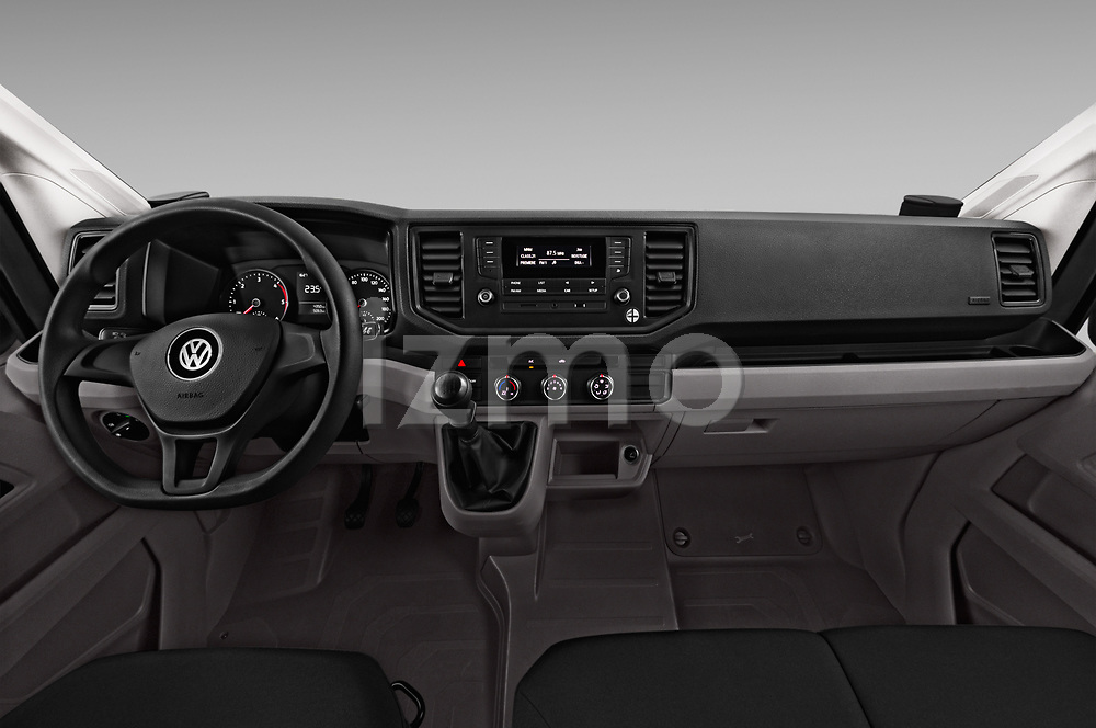 Stock photo of straight dashboard view of a 2017 Volkswagen Crafter Base 4 Door Cargo Van
