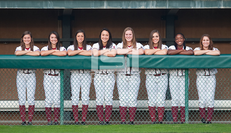 STANFORD, CA-NOVEMBER 28, 2011- Freshmen of the Stanford Women's Softball Team.