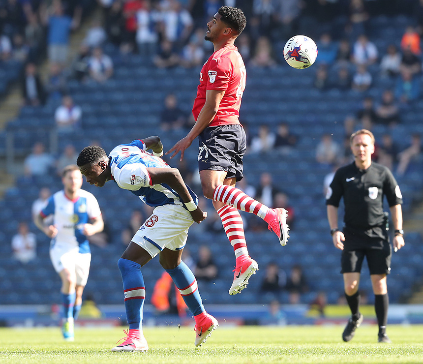 Blackburn Rovers' Lucas Joao and Barnsley's Saidy Janko<br /> <br /> Photographer Rachel Holborn/CameraSport<br /> <br /> The EFL Sky Bet Championship - Blackburn Rovers v Barnsley - Saturday 8th April 2017 - Ewood Park - Blackburn<br /> <br /> World Copyright &copy; 2017 CameraSport. All rights reserved. 43 Linden Ave. Countesthorpe. Leicester. England. LE8 5PG - Tel: +44 (0) 116 277 4147 - admin@camerasport.com - www.camerasport.com