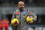 Luigi Riccio Assistant coach of Napoli during the Coppa Italia match at Giuseppe Meazza, Milan. Picture date: 12th February 2020. Picture credit should read: Jonathan Moscrop/Sportimage